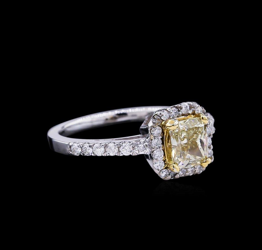 1.43ctw Fancy Light Yellow Diamond Ring - 14KT Two-Tone