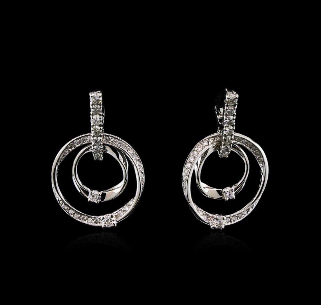 1.46ctw Diamond Earrings - 14KT White Gold