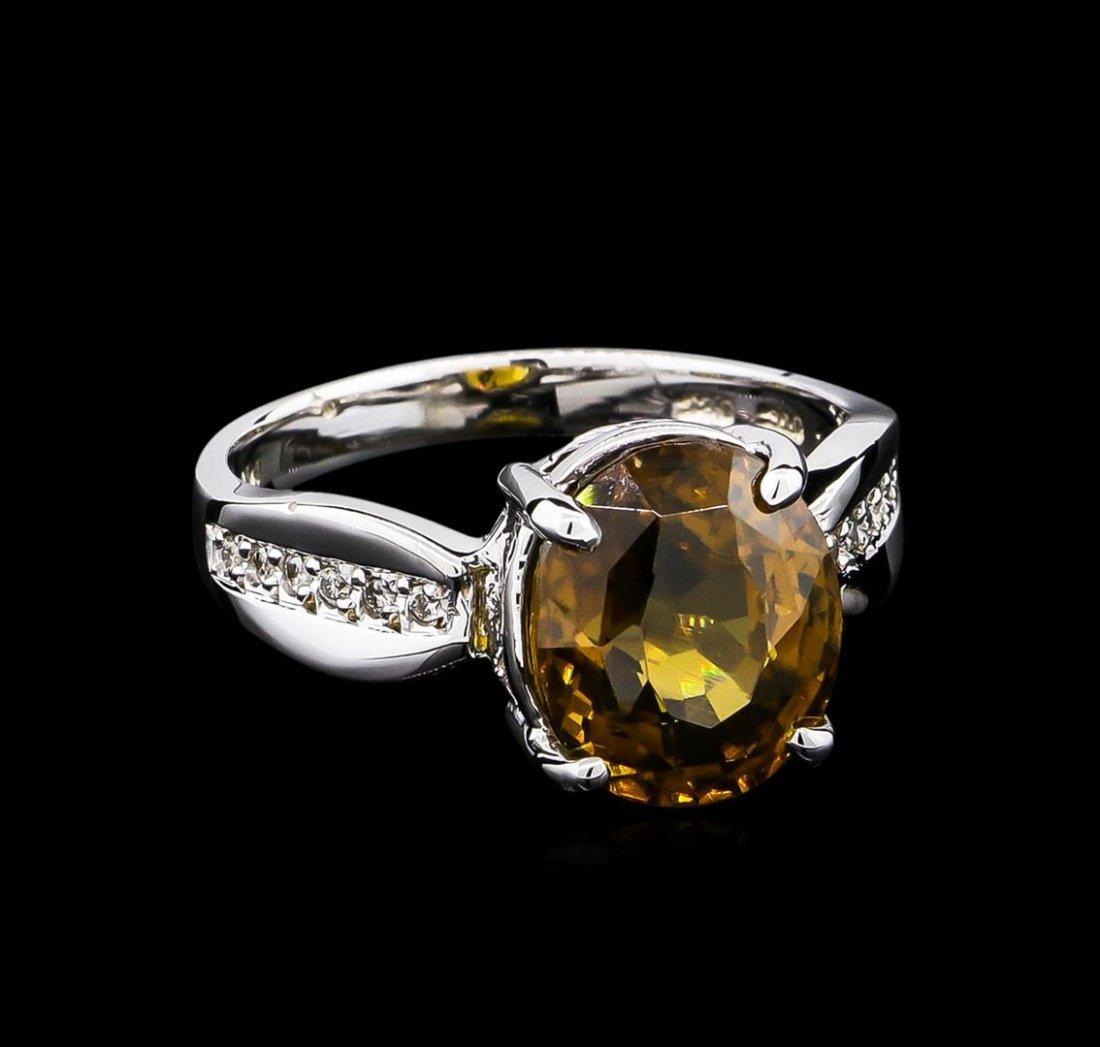7.75ct Zircon and Diamond Ring - 14KT White Gold