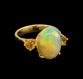 4.67ctw Multi Gemstone Ring - 14kt Yellow Gold