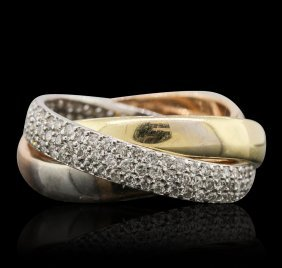 14kt Tri-tone Gold 0.89ctw Diamond Ring