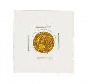 1927 $2.50 Bu Indian Head Quarter Eagle Gold Coin
