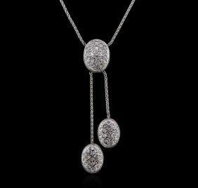 1.20ctw Diamond Necklace - 14kt White Gold
