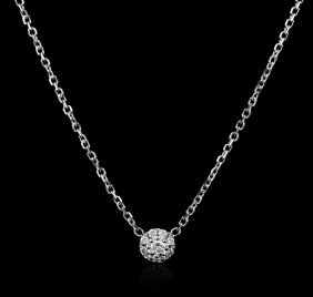 14kt White Gold 0.20ctw Diamond Necklace