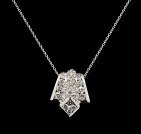 2.02ctw Diamond Pendant With Chain - 14kt White Gold