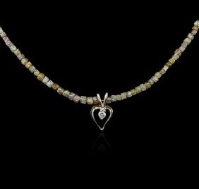 14kt Yellow Gold 32.99ctw Rough Diamond Necklace With