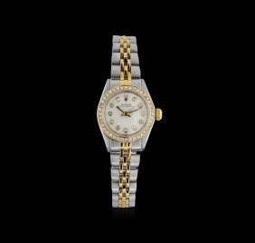 Rolex 18kt Two-tone Diamond Oyster Perpetual Ladies