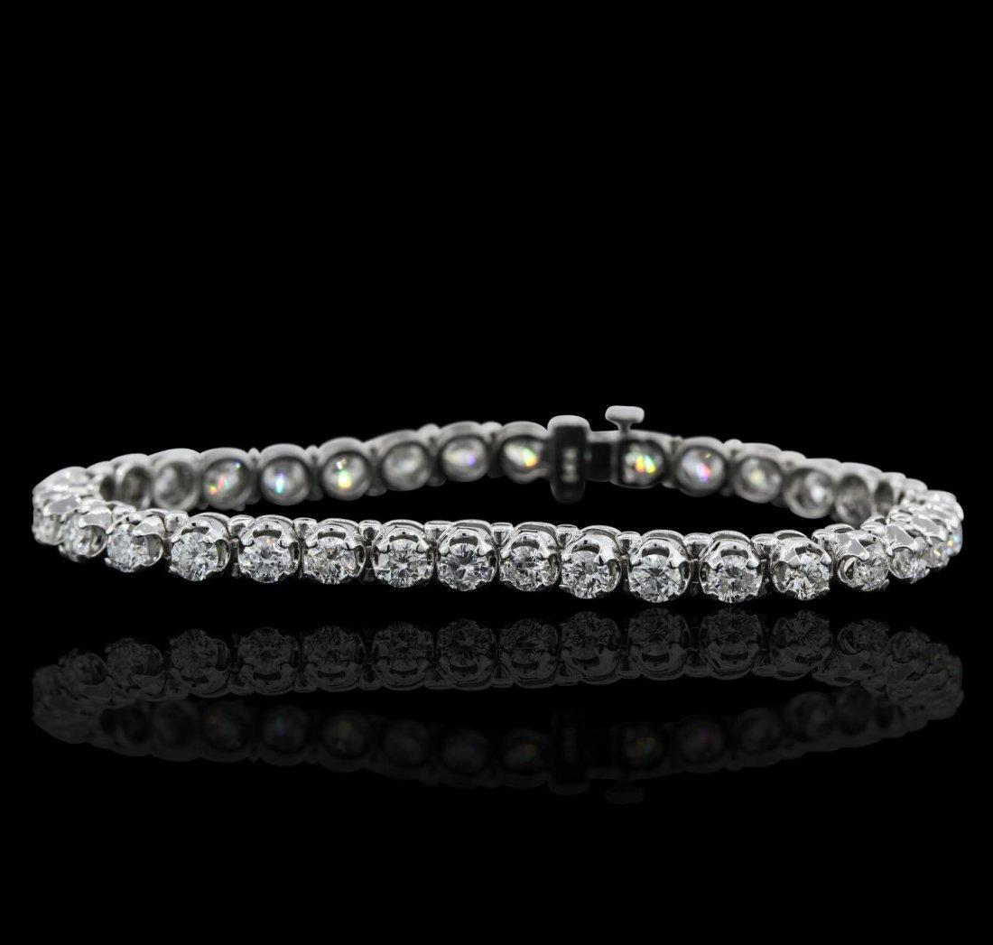 14KT White Gold 6.80ctw Diamond Tennis  Bracelet