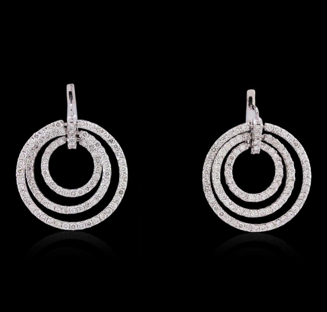 14KT White Gold 5.43ctw Diamond Earrings