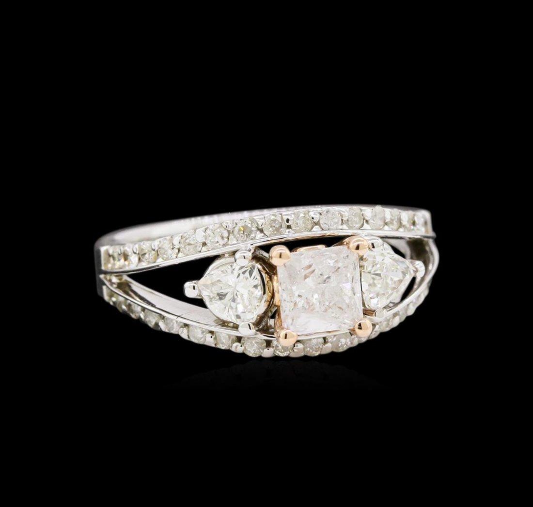 14KT White Gold 1.61ctw Diamond Ring