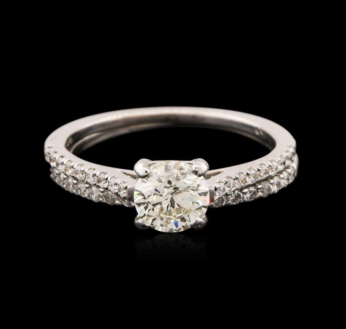 14-18KT White Gold 1.08ctw Diamond Wedding Ring Set
