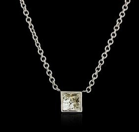 14kt White Gold 0.41ct Diamond Necklace