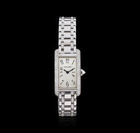 Cartier 18kt White Gold 2.00ctw Diamond Tank Americaine