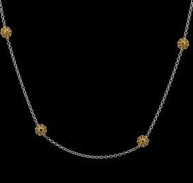 James Kurk 0.12ctw Black Diamond Necklace - 14kt