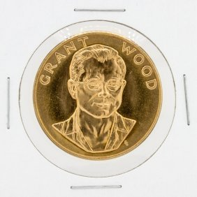 1980 1oz Grant Wood Us Commemorative Gold Coin