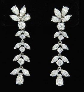 8.75ctw Diamond Earrings - Platinum