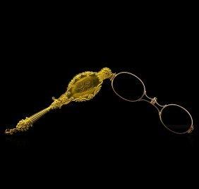 Lorgnette 14kt Yellow Gold Antique Opera Glasses