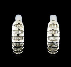 0.22ctw Diamond Earrings - 14kt White Gold