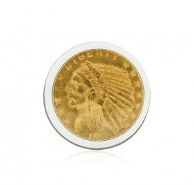 1912 $5 Cu Indian Head Half Eagle Gold Coin