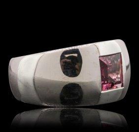 18kt White Gold 1.40ct Pink Tourmaline Ring
