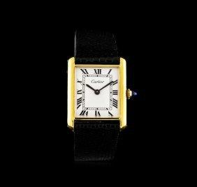 Cartier 18kt Yellow Gold Tank Ladies Watch