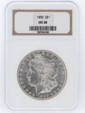 1900 Ngc Ms64 Morgan Silver Dollar