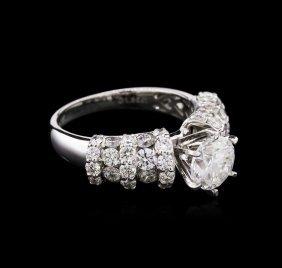 3.35ctw Diamond Ring - 18kt White Gold