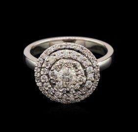 0.89ctw Diamond Ring - 14kt White Gold