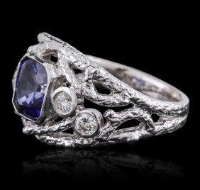14kt White Gold 1.99ct Tanzanite And Diamond Ring
