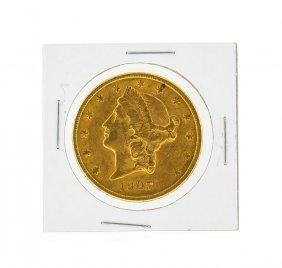 1907-s $20 Au Liberty Head Double Eagle Gold Coin