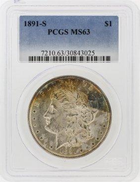 1891-s Pcgs Ms63 Morgan Silver Dollar