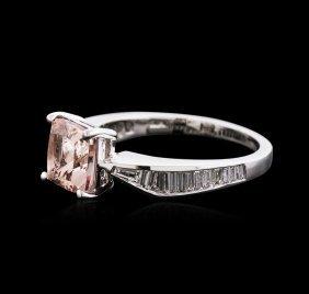 14kt White Gold 2.03ct Morganite And Diamond Ring
