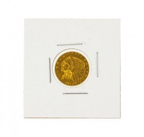 1913 $2.50 Cu Indian Head Quarter Eagle Gold Coin