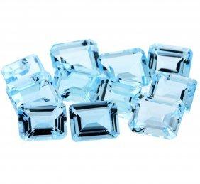 51.59cts Emerald Cut Natural Blue Topaz Parcel