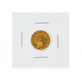 1914-d $2.50 Bu Indian Head Quarter Eagle Gold Coin