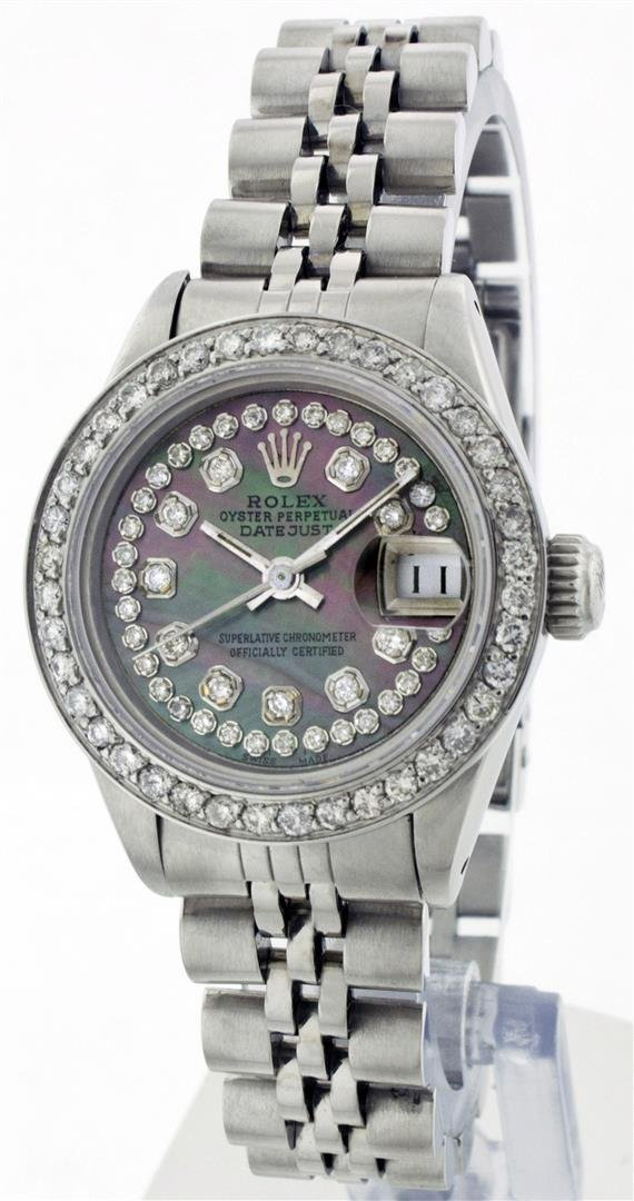 Rolex Stainless Steel 1.00 ctw Diamond DateJust Ladies