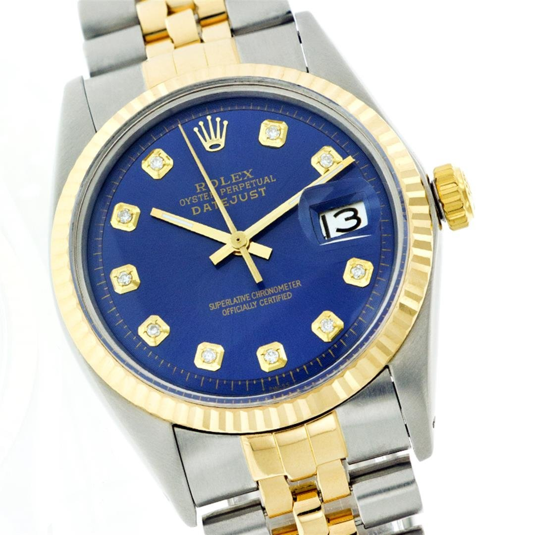 Rolex 14KT Two-Tone Diamond DateJust Men's Watch