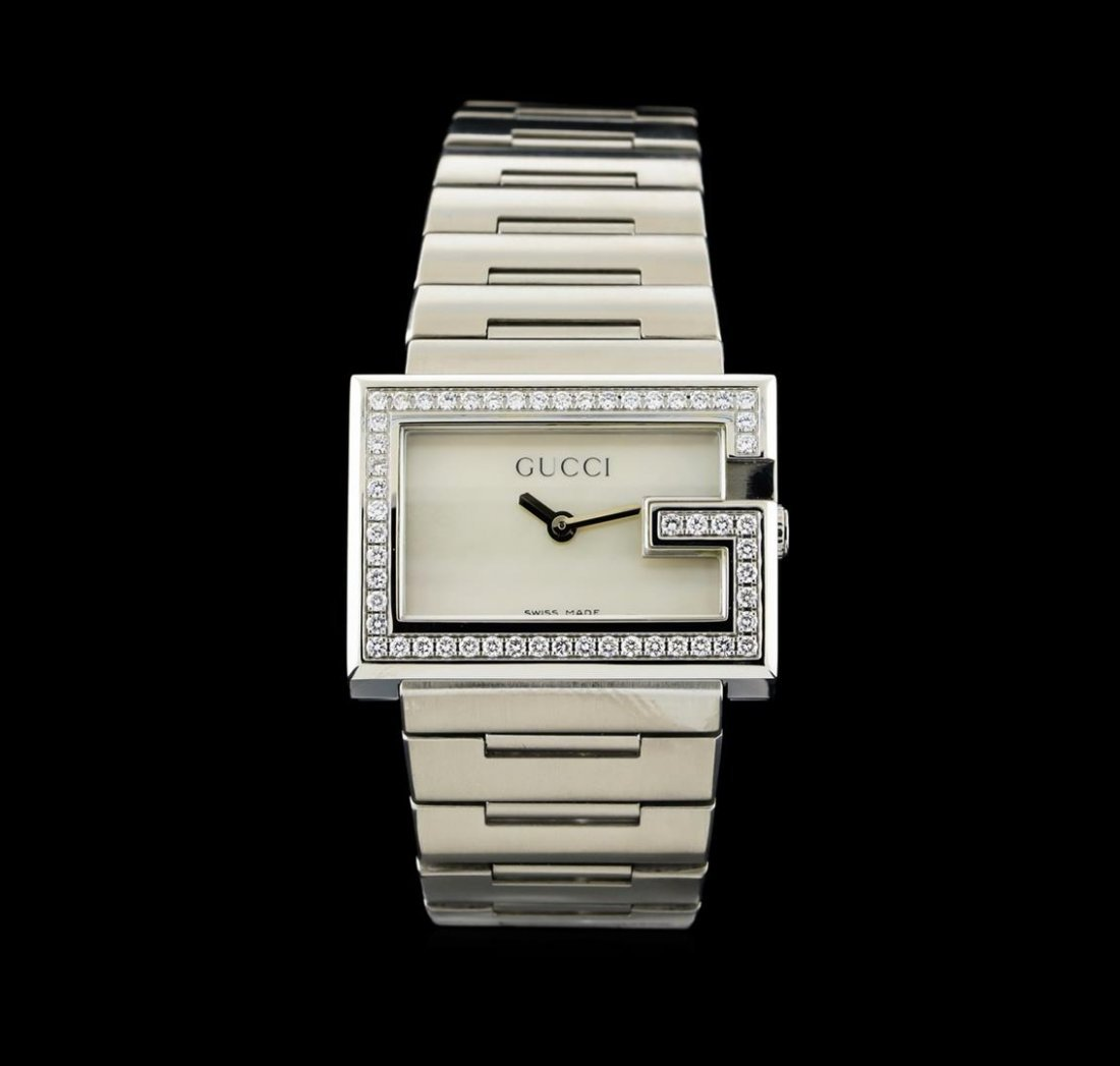 Gucci Stainless Steel Diamond 100L Ladies Watch