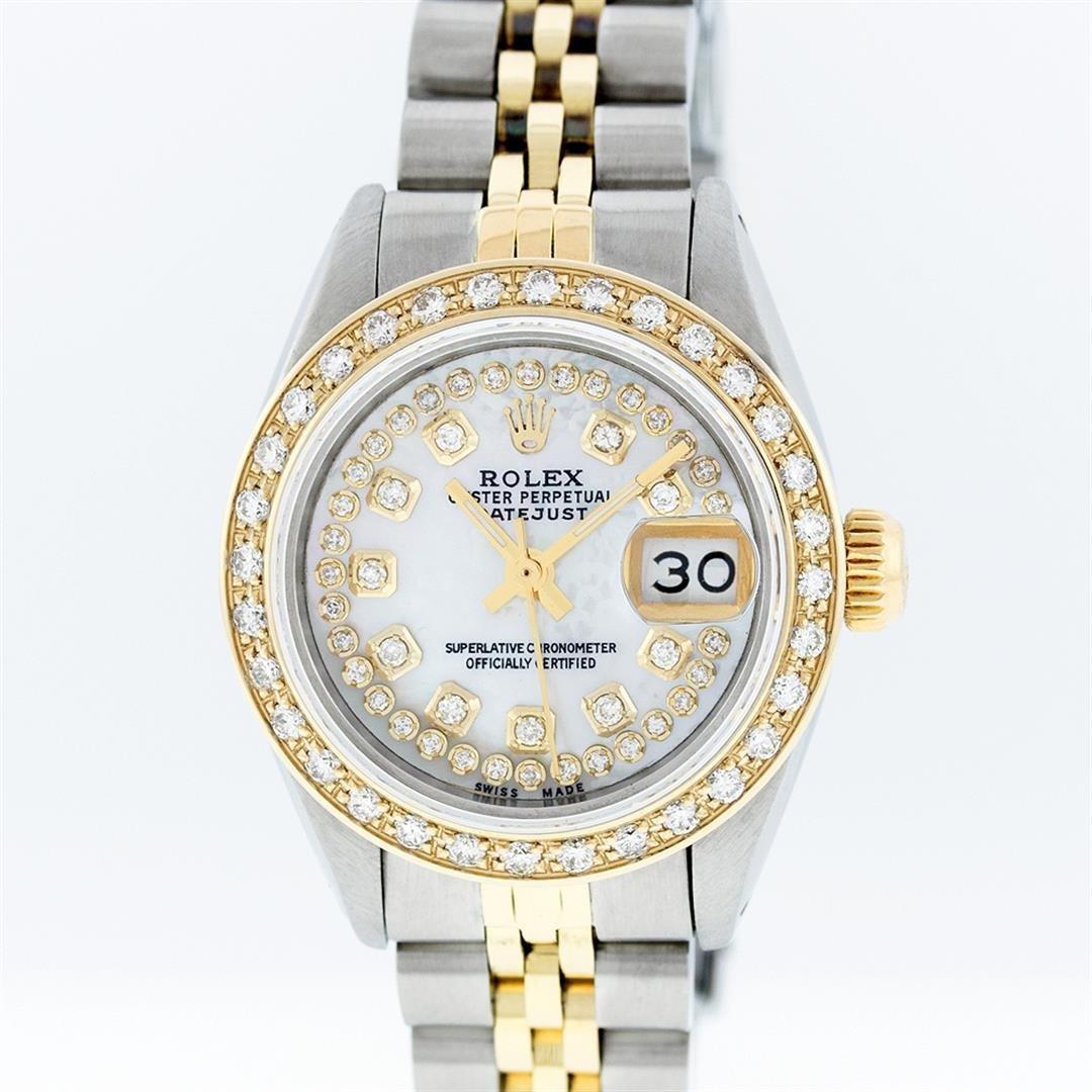 Rolex Two-Tone MOP String Diamond DateJust Ladies Watch