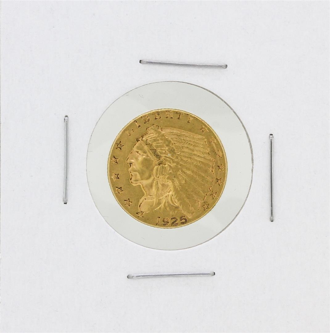 1925-D $2.50 AU Indian Head Quarter Eagle Gold Coin