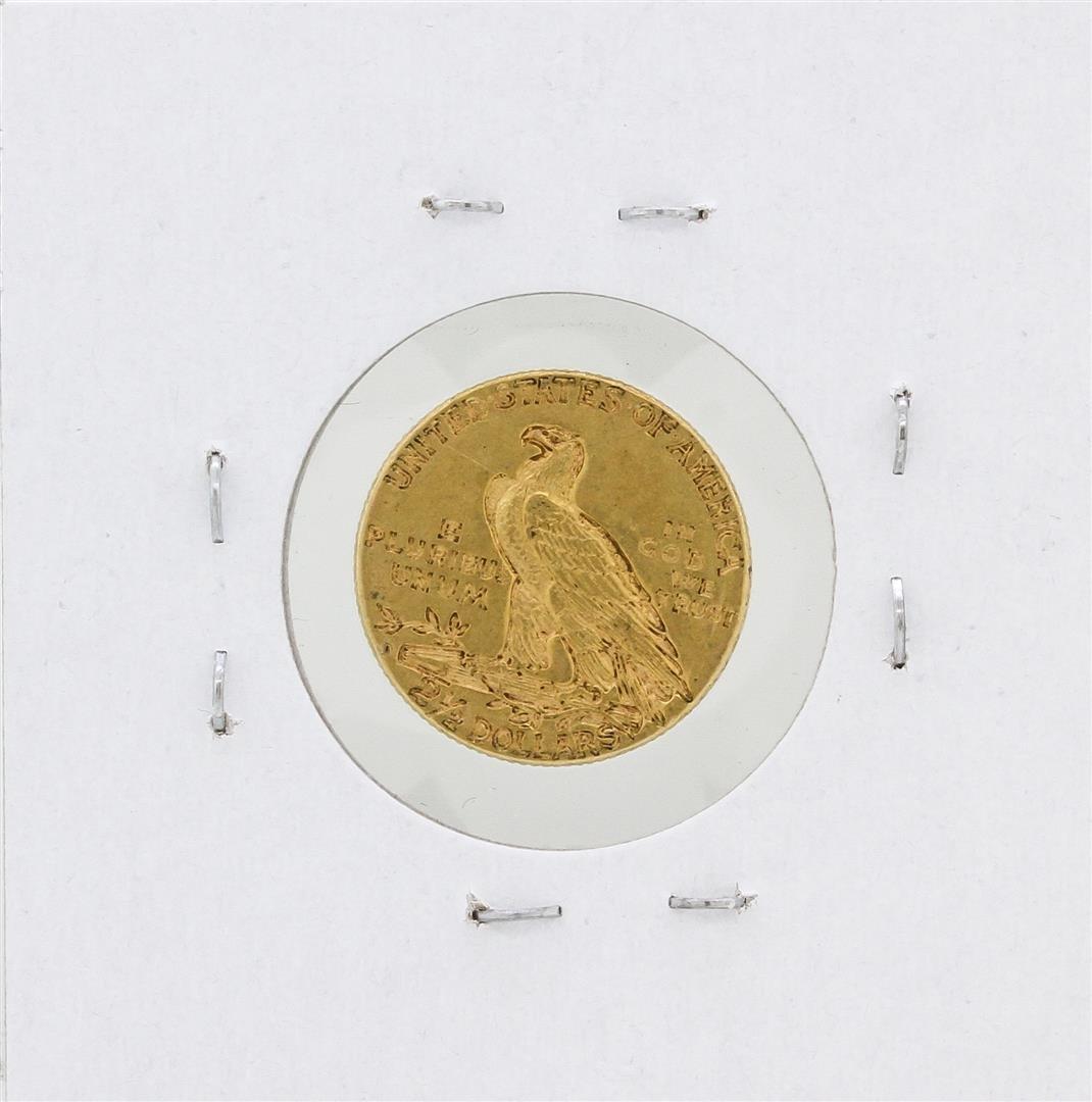 1925-D $2.50 AU Indian Head Quarter Eagle Gold Coin - 2