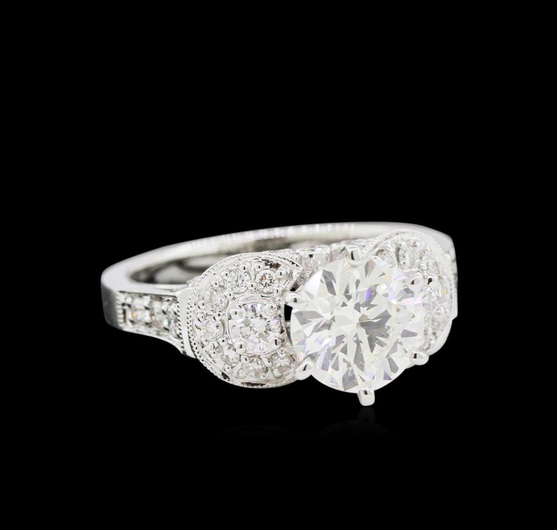 EGL USA Cert 2.49 ctw Diamond Ring - 18KT White Gold