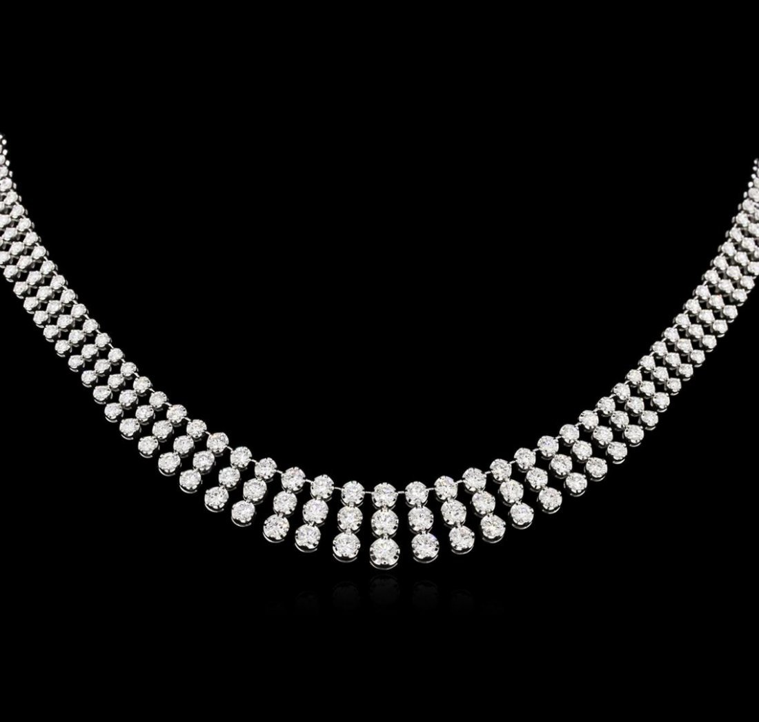 8.80 ctw Diamond Necklace - 18KT White Gold