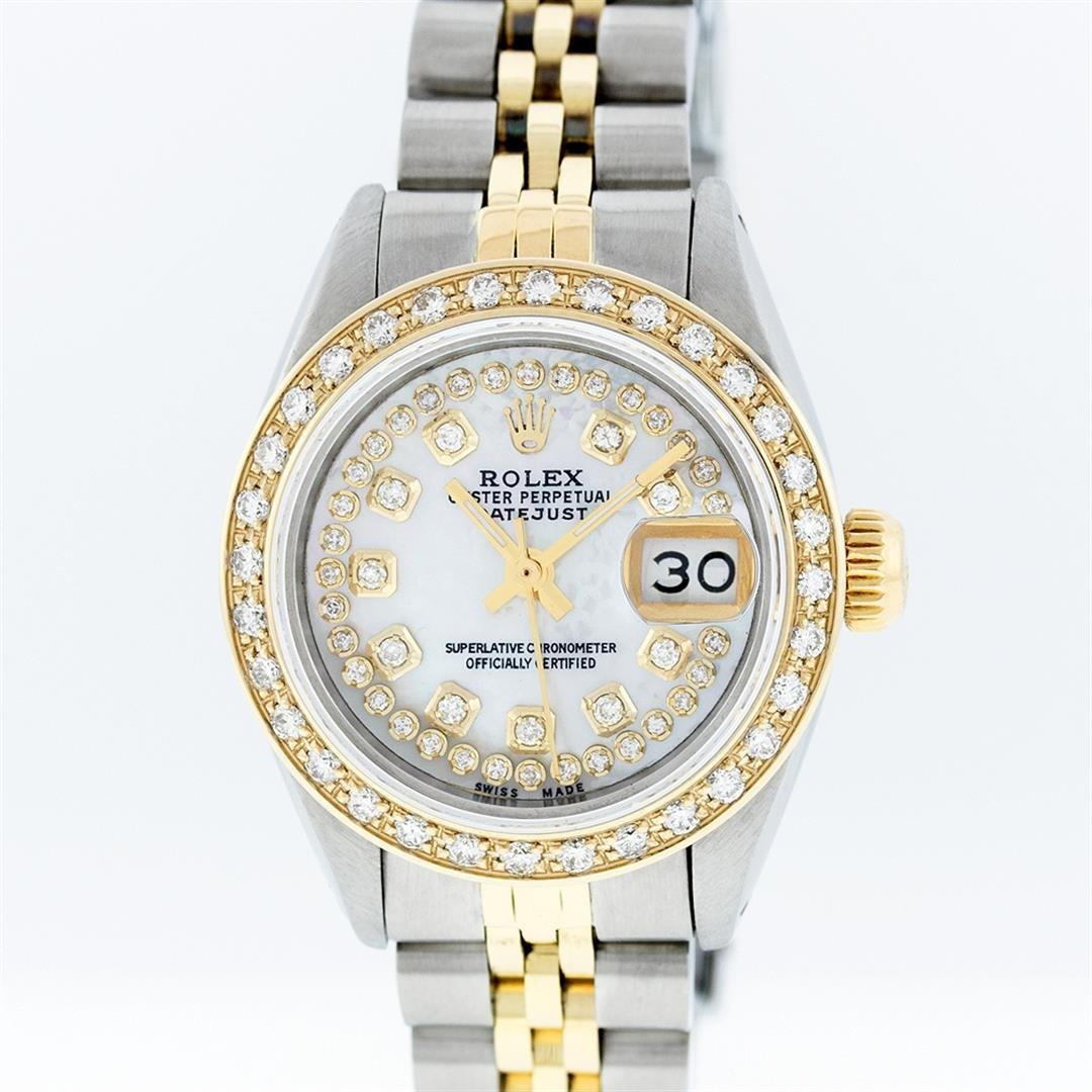 Rolex Two-Tone MOP String Diamond DateJust Ladies Watch