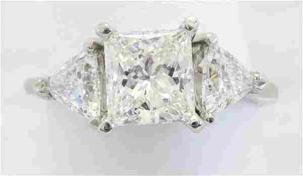 2.02 ctw Certified Diamond Ring - Platinum