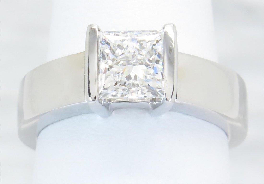 GIA Cert 1.29 ctw Diamond Solitaire Ring - 14KT White