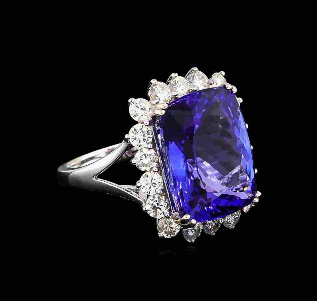 14KT White Gold 13.13 ctw GIA Certified Tanzanite and