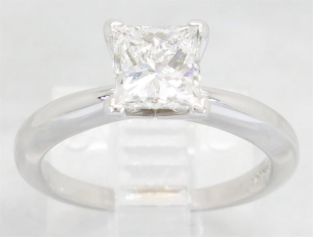 GIA Cert 1.01 ctw Diamond Ring - 14KT White Gold
