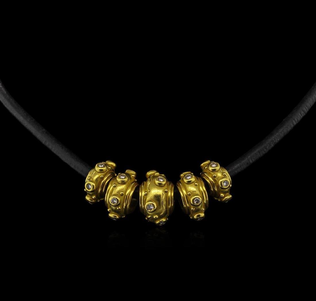 1.45 ctw Diamond Necklace - 22KT Yellow Gold