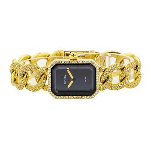 Chanel 18KT Yellow Gold 3.22 ctw Premiere Watch